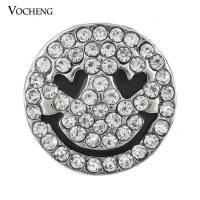 Crystal 18mm Smile Face Snap Button Vn-005