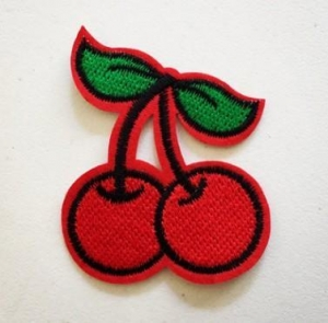 China Fruit patches custom college embroidered patches on sale