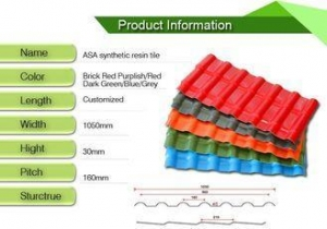 China Construction Material Upvc Roof Tiles / Blue Or Green House Roof Cover on sale