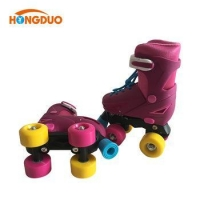 Most popular rubber roller quad skate with PVC or PU wheels