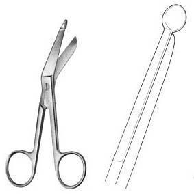 China SS 301 -- Bandage Scissors, Angular, 180 mm Long on sale
