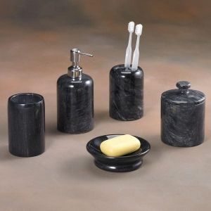 China Genuine Marble Bath Accessories Black Marble Bath Accessories - Spa Collection on sale