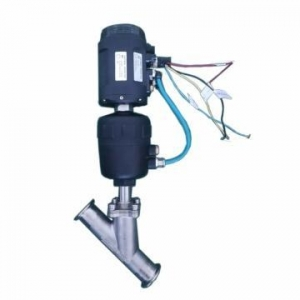 China Brand factory provider industrial 4-20mA Positioner SS304 Quick Install Pneumatic Angle Seat Valve on sale