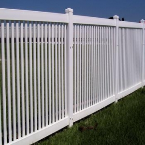 China 42/48highx8ft wide white color wide picket top PVC/Vinyl garden fence on sale