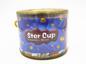 China 4g Star Chocolate Cup In PVC Jar Sweety Chocolate With Crispy Cookie on sale