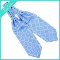 Fashion Elegant Light Blue Microfiber Brand Name Cravat For Men