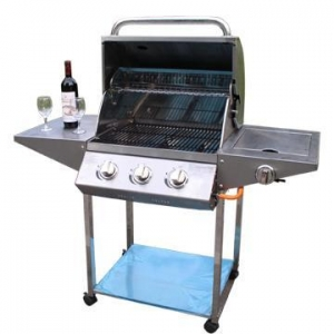 China Classic design Full stainless steel 3-burners Gas Grills on sale