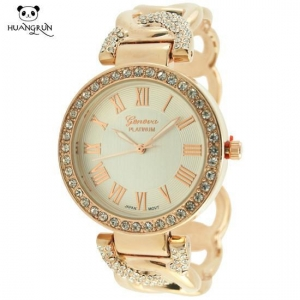 China Watches Geneva rose gold bangle watches for women on sale