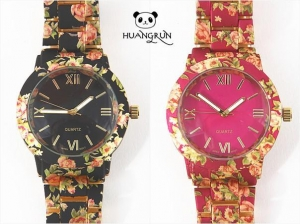 China Watches Best price flower printing geneva quartz watches on sale
