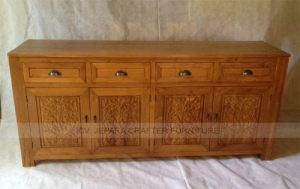 China Sideboard Buffet 4 Carving Doors 4 Drawers Teak on sale