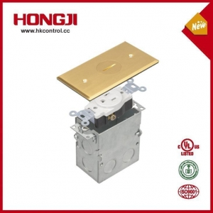 China Screw Open Brass Recessed Floor Cover Assembly Electrical Outlets Floor Box on sale
