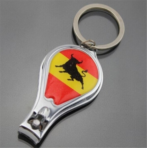 China Keychains Keyrings Logo Engraved Nail Clipper on sale