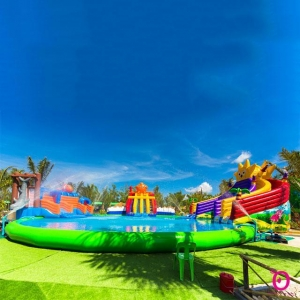 China Inflatable Water Park On Land For Sale on sale