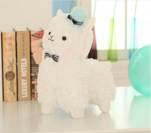 China Plush Alpaca Toy With Hat on sale