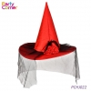 China Witch Hat with Feather Veil for sale