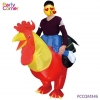 China Rider Rooster Inflatable Costume for sale