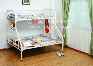 China Bed Metal Triple Bunk Bed on sale