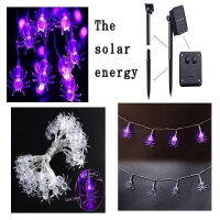 China Solar Powered String Lights Solar Powered LED Halloween Spider String Lights on sale