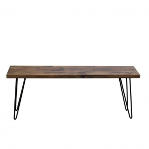 China Industrial Metal Wooden Long Bench Stool on sale