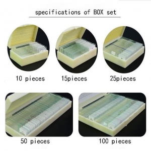 China Box Set Glass Biological Microscope Prepared Slides For Students Education On Biology Science on sale