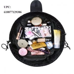 China Upgraded Makeup Cosmetic Bag Pouch Toiletry Kit Organizer Portable Large Cosmetic on sale