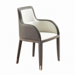 China Contemporary Cow Leather Dining Room Chair on sale