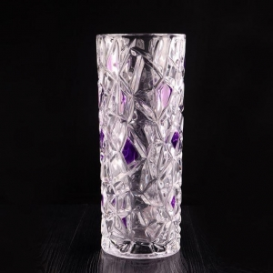China Blue Crystal Vase on sale