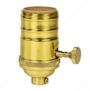 China Golden Aluminum Antique vintage pendant brass light bulb socket on sale