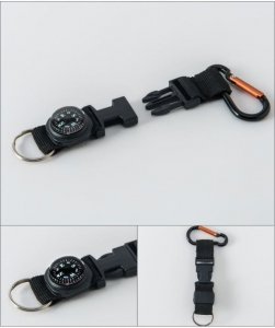 China Multicolor Outdoor Survival Plastic Mini Compass Carabiner Strap With Keychain on sale
