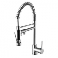 Pull out Sprayer Bar Sink Faucet Brushed Nickel