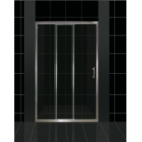 China Triple Panel and Dual Sliding Shower Door Space Saving Design on sale