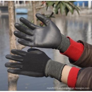 China Nylon/Polyester PU Glove on sale