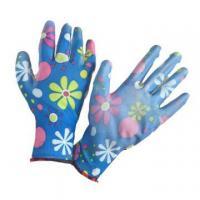 NMSAFETY EN388:2016 3121X polyester coated pu women gardening gloves