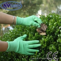 China NMSAFETY 13g green color working gloves closeout on sale