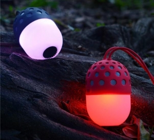 China High Quality Flashing Light Led Round Bulb Firefly Bluetooth Speaker on sale