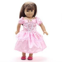 China Pink American Girl Doll Clothes for 18 Inch Play Doll on sale