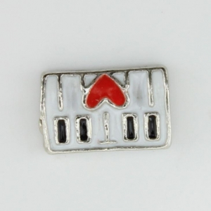 China Piano Keys Floating Charm on sale