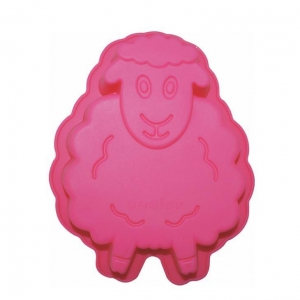 China Lovely Pet Sheep Baking Silicone Cake Mold on sale