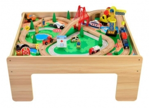 China Wooden Train Table on sale