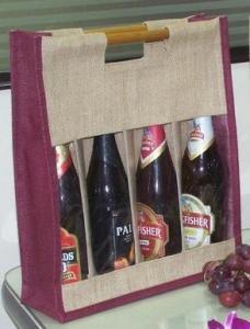 China Jute Wine Bottle Bags 0118U on sale