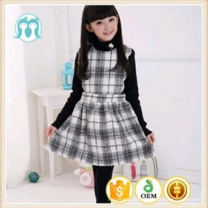 China 2017 winter fashion girls' dress latest children dress designs wool sweater dress on sale