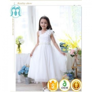 China 2017 hot fancy children bow wedding dress party white dresses special occasion girls' on sale