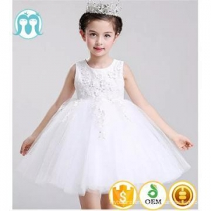 China 2017 new design ball gown bride romantic white cream wedding formal dresses for children on sale