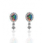 2.5 Carat Opal diamond Earrings