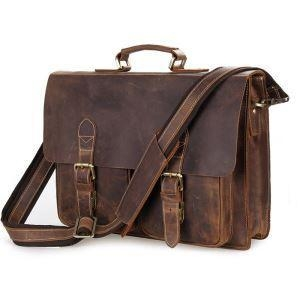 China Leather Laptop Briefcases on sale