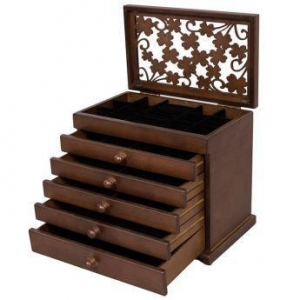 China Large Wooden Jewelry Box on sale