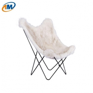 China Faux Fur Butterfly Chair on sale