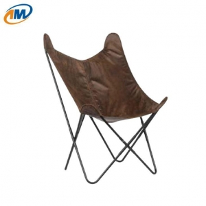China Leather Butterfly Chair on sale