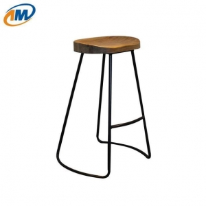 China Backless Stool with Wood Seat on sale