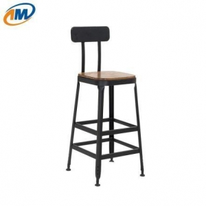 China Bar Stool with Metal Back on sale